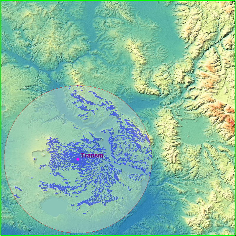 RELIEF MAP WITH VIEWSHED