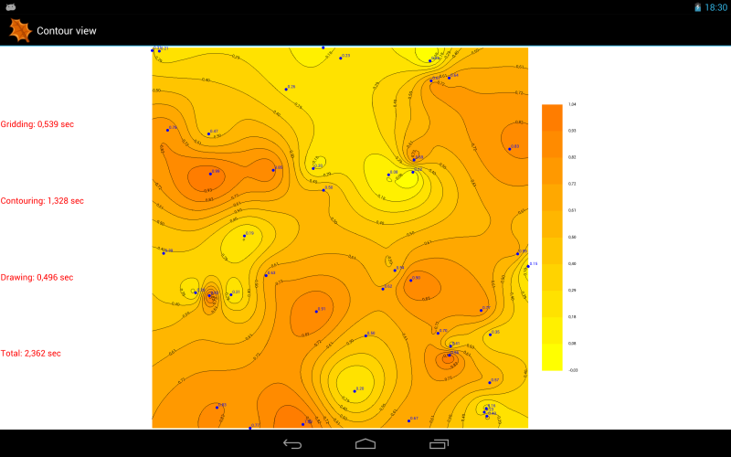 Android contour maps Nexus 10